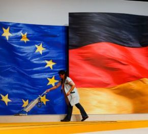 German and EU flags