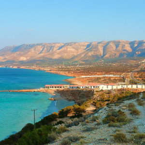 Natural landscape the coast of Libya in North Africa