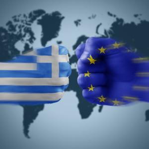 greece x eu - boxing national flag coloured fists