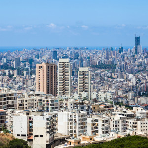 Cityscape view in Beirut - Lebanon capital.