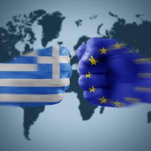 greece x eu - boxing national flag coloured fists