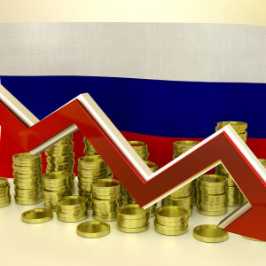 3D finance graph - currency collapse - Russian ruble