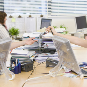 Women working in an office